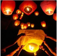 2017 new year party Romantic Sky Lanterns Paper Flying Balloons with Fuel For  Wedding Party Birthday Wedding Decoration