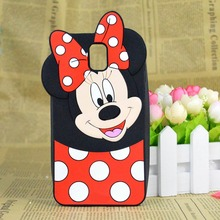 Note 3 Cute 3D Cartoon Minnie Mickey Mouse Silicone Case Cover For Samsung Galaxy Note 3 III N9000 N9002 Minions capa funda hood(China)