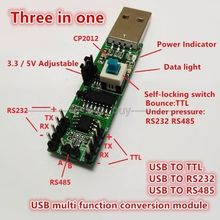 3in1 Serial port module USB TO RS232 TTL RS485 USB Serial port module CP2102 for WIN10,Win8,Win7,VISTA,WinXp, Win2K(China)