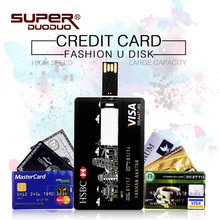 Bank Credit Card Shape Waterproof USB Flash Drive Pen Drive 4GB 8GB 16GB flash drive pendrive 32GB 64GB Memory Stick flash disk(China)