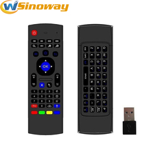 MX3 2.4GHz fly Air Mouse Wireless Remote Control Keyboard Controller for Smart TV Android TV box mini PC HTPC black no voice