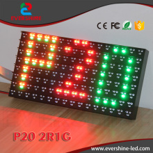 High Quanlity&Brightness 20mm P20 Outdoor 2R1G LED Module User For Traffic Induction Sign With Big View,Dual Color P20 LED Board