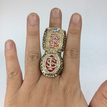 2Pcs/Lot 2013/2014 ACC Florida State Seminoles Men's Football NCAA National Championship Fan Ring(China)