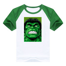 T-shirt the Captain America and Hulk pattern boys clothing Short Sleeve cotton Avengers boys clothes children t shirts