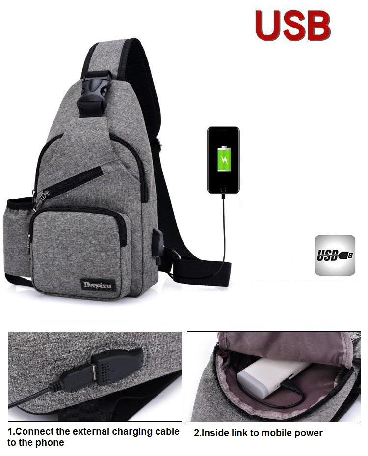 High Capacity Chest Bag For Men Backpack Women Sling Bag Casual ... 628947d0dd38f