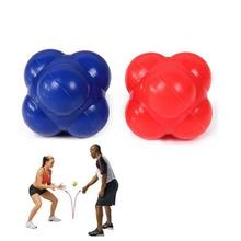 60mm Reaction Ball Reflex Ball Color Random Silicone Strength Speed Training Fitness Ball Aid Exercise