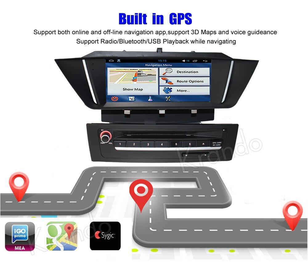 Krando bmw X1 E84 2009-2013 Android car radio gps dvd player navigation multimedia system (6)
