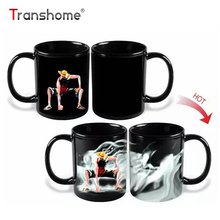 Transhome Luffy Color Changing/Change Porcelain Mug Heat Sensitive Mug Ceramic Mug For Coffee Tea Milk Holiday Gift