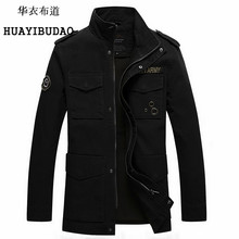 HUAYIBUDAO Autumn And Winter Coat men Military uniform Men's Spring Jacket In the long section Army Tactical jacket M-3XL