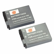 DSTE 2PCS KLIC-7003 Rechargeable Battery for KODAK EasyShare V1003 V803 GE-E1030 GE-E1240G E-E1250TW GE-E850 GE-E855 Camera