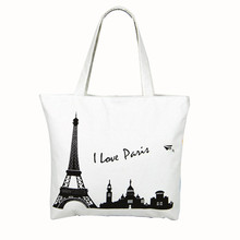 kai yunon 2016 New Style Canvas Tower House Pattern Shopping Big Shoulder Bags Women Handbag Beach Aug 23