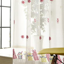 {byetee} Princess Girls Bedroom Window Screen Curtain Finished Pink Candy Custom Sheer Curtain for Living Room(China)