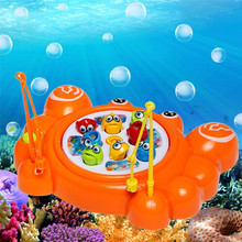 Music Electric Cartoon Crab Magnetic Fishing Toys Magnet Fishing Game Kit Educational Toy Gift for Baby Kids High Quality