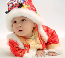Mopopo Chinese Folk-custom Thicken Tiger Hat Thicken Warm Baby Winter Hat Cotton Baby Hat Winter Kids Cap Newborn Photography(China)