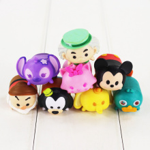 8pcs/lot 3cm Tsum Tsum Figure Toy Jenga Mickey Dwarf Dumbo Mini Models Mouse Animal Dolls for Kids