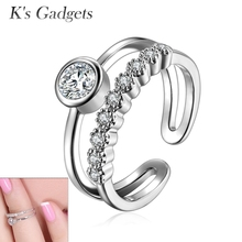 K's Gadgets Finger Joint Knuckle Ring Adjustable Rose Gold Toe Midi Set Silver Plated Zehenringe Cute Finger Nail Ring(China)