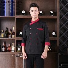 Food service cook clothes clothing new restaurant uniform shirt cook uniform chef clothing hotel kitchen chef shirt AA488