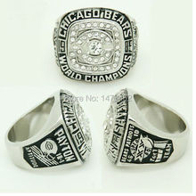 SOLID BACK CHICAGO BEARS XXX SUPER BOWL RING 1985 CHAMPIONSHIP RING PAYTON AS FANS BEST GIFTS(China)