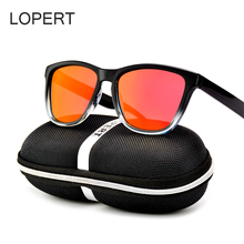 LOPERT Fashion Polarized Sunglasses Men Driving Glasses Brand Designer Mirrors Gradient Sun Glasses For Men UV400