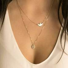 TOMTOSH new fashion handmade jewelry summer simple lady multi-layer peace pigeon zinc alloy necklace swallows necklace