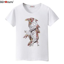 BGtomato Colorful birds art t-shirts new design women shirts Original brand casual shirts cheap sale summer tops tees