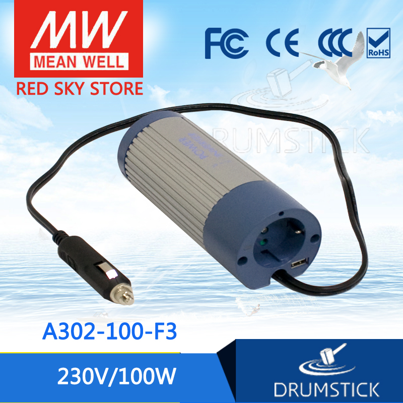 Original MEAN WELL A302-100-F3 230V  meanwell A302-100  100W Modified Sine Wave DC-AC Power Inverter<br>