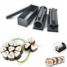 Full Set 10 Pack DIY Easy Sushi Maker Machine Kit Rice Roller Mold Sushi Roll Cutter Kitchen Cooking Tools set drop shipping(China)