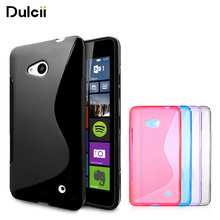 DULCII For Microsoft Lumia 640 Case S Line Pattern Flexible TPU Gel Case for Nokia Lumia 640 Dual Sim 640 LTE Soft Phone Cover(China)