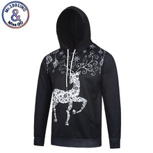 Mr.1991INC New Fashion 3D Print Black Sketch Christmas Animal Deer Graphic Hoodies Men/Women Fashion Class Gift Sweatshirts Tops(China)