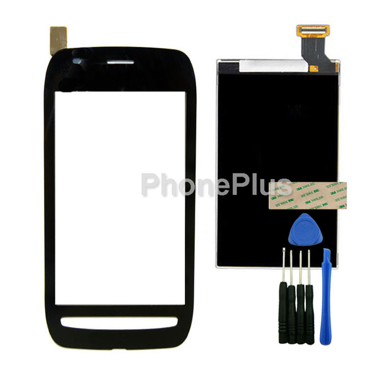 Touch Screen Glass Digitizer+LCD Screen Display Screen Adhesive Replacement Repair Part For Nokia Lumia 710<br><br>Aliexpress