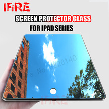 For Apple ipad 2017 Tempered Glass Screen Protector Film For ipad 2 3 4 air 1 2 Explosion Proof Guard Film For ipad mini 1 2 3 4(China)