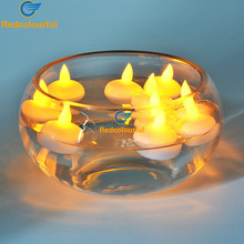 Redcolourful 12pcs Floating Candle Lamp Led Tea Light Candles Wedding Lotus Birthday Candles Flameless Led Candle Decoration(China)