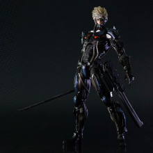 28cm Game Top Quality Metal Gear Solid Raiden With Gun And Sword Ver. Play Arts Kai PVC Action Figure Toys Collectors Model
