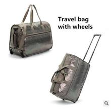 2016 brand Snakeskin Leather Women Luggage Rolling Bag Cabin Travel Trolley luggage Bag on wheels Travel Duffle Travel Suitcase