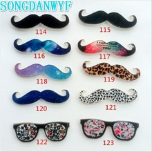 SONGDANWYF Fashionable Harajuku Style Beard Creative Leopard Glasses Acrylic Brooch Badges Clothing Accessories Stickers