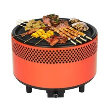 Portable Picnic BBQ Grill Oven Charcoal Round Barbecue Stove Roasting Tray Meat Cooker Outdoor Camping Hiking Cooking stove