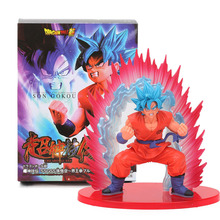New Box 20cm SSGSS Cho Shin Gi Den Super Saiyan God Son Goku PVC Action Figure Dragon Ball Z Collectible Model Toys Kaioken Blue(China)