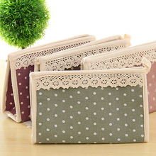 Cotton Cloth Lace Cosmetic Bags Cosmetic Bag Mobile Phone Purse Storage Bags