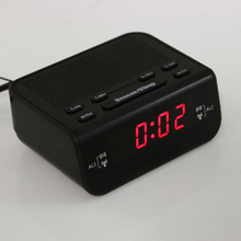 Compact Digital FM Radio with Alarm Clock Function LCD Display Time 10 FM Automatical Scan Radio EU Standard