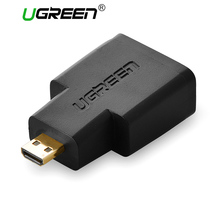 Ugreen HDMI Female to Micro HDMI to HDMI Adapter cable Converter gold plated connector HD TV Camera hdmi adapter(China)