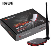 BlueWay N9000 Wireless Wifi Adapter Network Card Free Internet Long Range USB Adapter 150Mbps Wifi Decoder With 5dBi Antenna(China)