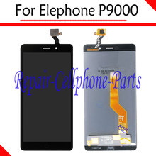 Black 100% New Full LCD DIsplay + Touch Screen Digitizer Assembly Replacement For Elephone P9000 LTE Free Shipping(China)