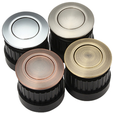 Red copper/ antique brass/ satin/ light 34mm chrome finish  zinc alloy furniture cabinet drawer elastic hidden knob