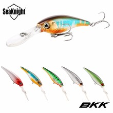 SeaKnight SK006 Hard Fishing Lures Minnow 5Pcs/Lot 6.2g 62mm 0-2.5M Artificial Baits Deep Diving Wobblers Minnow Fishing Tackles(China)