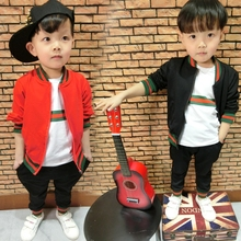 Baby Boy Clothes Children's Outfit For Boys Girls 3PCS Sports Suit Ziper Jacket + T-shirt + Pants Set Infant Boys Clothes