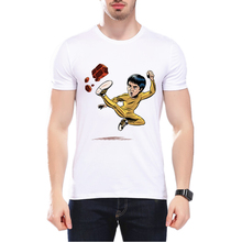 2017 New Summer Fashion Bruce Lee Printed T-shirt Cartoon Bruce Lee Design Male Tops Funny MMA High Quality T Shirts L1C61(China)