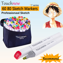 60 80 Colors Touchnew Copic Sketch Markers Double Head Alcohol Oily Pro Marker Drawing for Manga Marcador Caneta Touch Marker