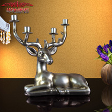 2016 Direct Selling European Style Retro Luxury Villa Decoration Candle Factory Direct Home Furnishing Kneeling Deer