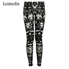 Buy Leimolis High Waist punk rock Harajuku workout push fitness sexy 3d print dark gothic women leggings plus size pants for $8.10 in AliExpress store