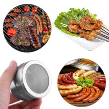 1PC Portable Herb Salt Pepper Stainless Steel Spice Jars Flavoring Container Magnetic Tins Kitchen Storage(China)